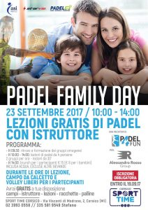 Padel Family day Alessandro Rosso Group